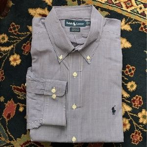 Polo Plaid Button Down Men's Yarmouth Fit Gridded